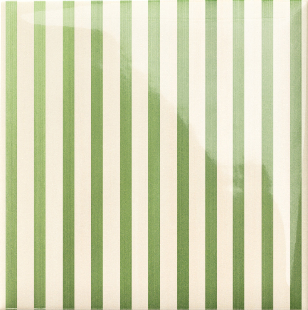 Декор Lucciola Stripe Green 20x20