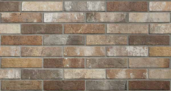 Керамогранит London Brick Multicolor 25x6